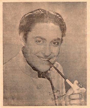 'Dada Moni' Ashok Kumar's signed photo