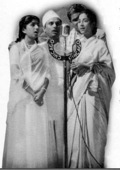 Geeta Dutt, Anil Biswas and Lata Mangeshkar