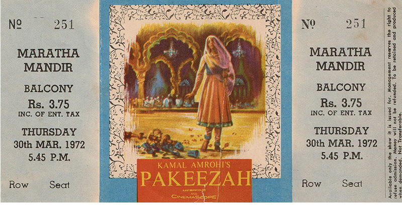 Pakeezah Movie Ticket