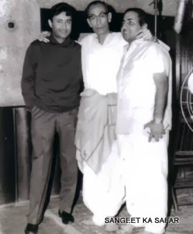 Dev Anand, Dada Burman and Mohd Rafi