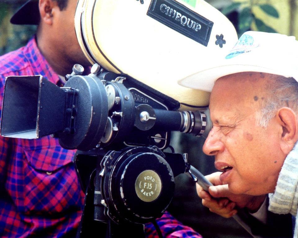 Tapan Sinha behind the camera