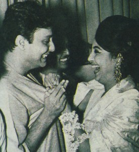 Soumitra Chatterjee and Suchitra Sen