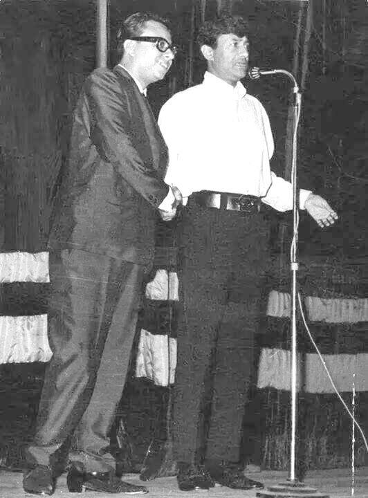 R D Burman with Dev Anand