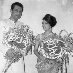 Satyajit Ray and Suchitra Sen at BFJA