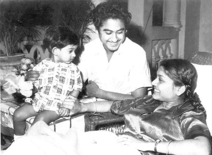 Amit Kumar, Kishore Kumar and Ruma Ganguly