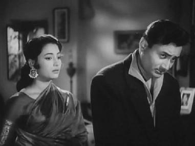 Suchitra Sen and Dev Anand in Bambai K Babu