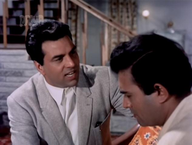 Dharmendra and Sanjeev Kumar in Satyakam