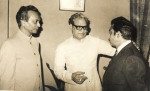Three Legends: (L to R) Naushad, Majrooh Sultanpur and Madan Mohan (Pic courtesy: madanmohan.in