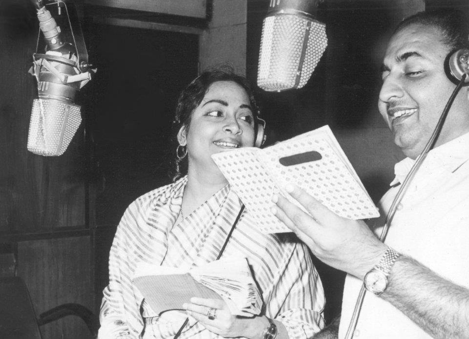 Geeta Dutt and Rafi