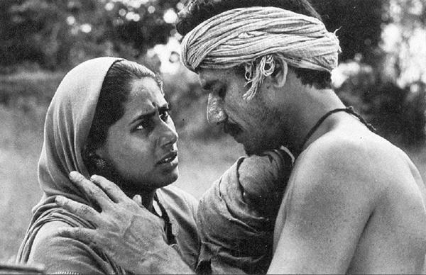 Smita Patil and Om Puri in Sadgati