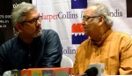 Amitava Nag and Soumitra Chatterjee at the book launch.