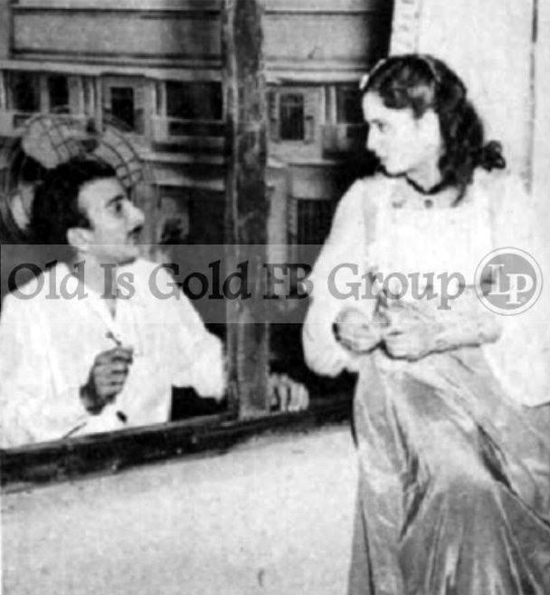 Raj Khosla directing Geeta Bali in Milaap (1954)