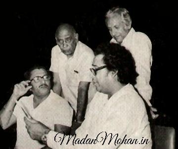 Madan Mohan, Kishore Kumar and Chetan Anand