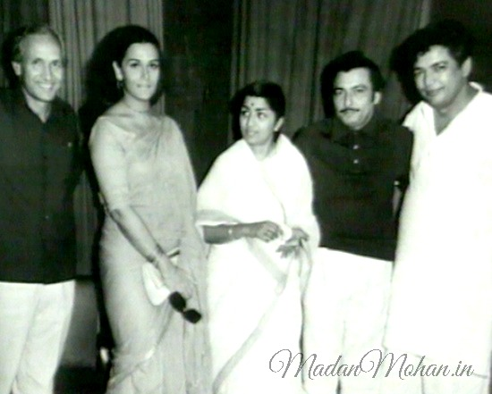 Madan Mohan with Chetan Anand
