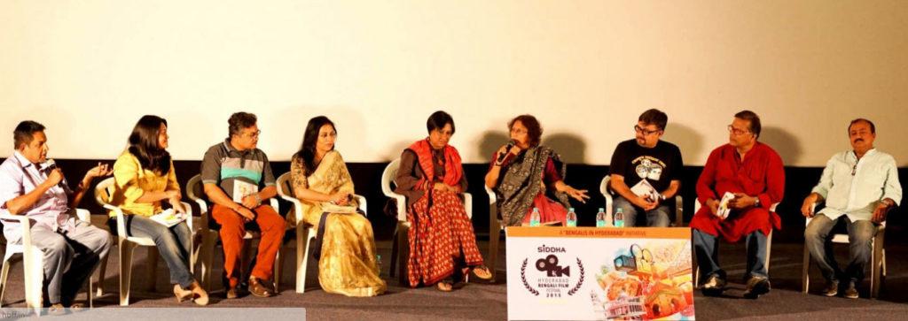 Ratnottama Sengupta speaking at the panel discussion at HBFF 2015.