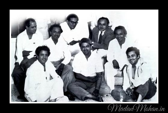 Roshan, Anil Biswas, Hemant Humar, Mohd. Shafi, Naushad, Jaikishan, C. Ramchandra, Madan Mohan