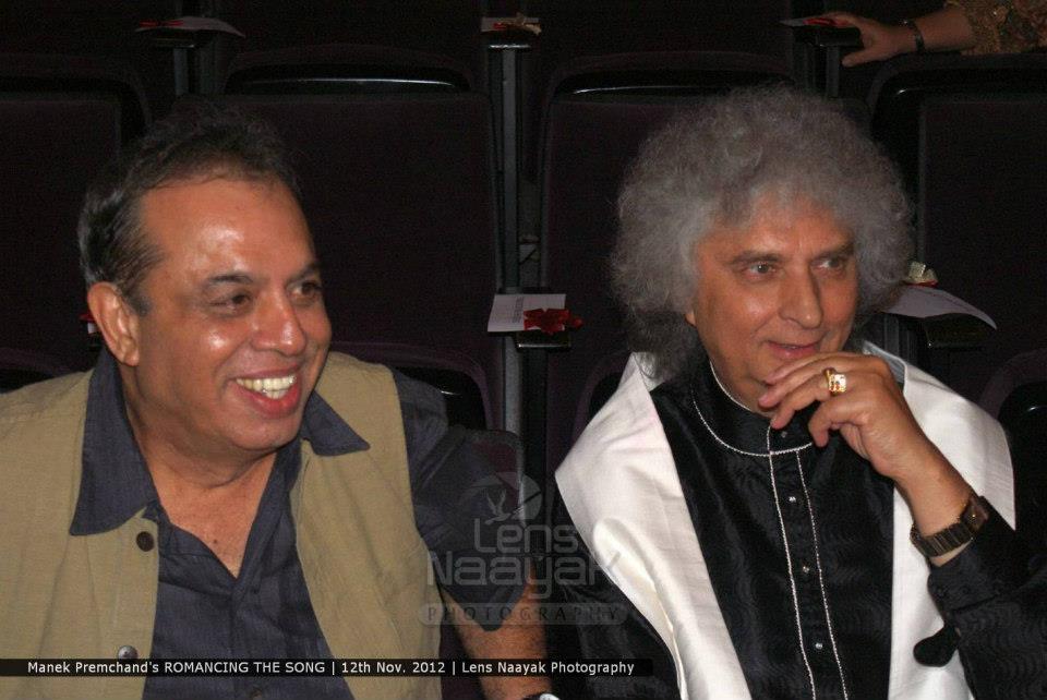Manek Premchand with Pt Shiv Kumar Sharma