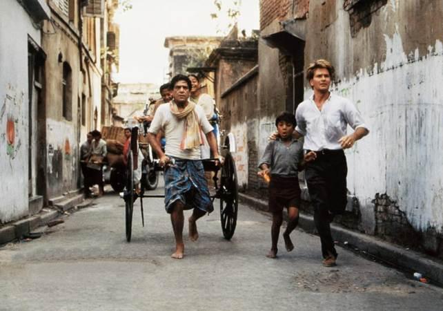 Om Puri plays a rickshaw-puller