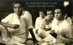 Satyajit Ray and Ravi Shankar during one of the many sessions composing the music of Ray's The Apu Trilogy.