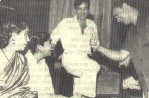 Geeta Dutt, Lata Mangeshkar, Raj Kapoor and Mukesh