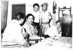 Raj Kapoor and Shailendra at the Bina Police Station (Pic: Dinesh Shailendra)