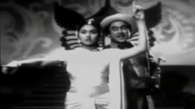 Kishore Kumar and Vyjayanthimala