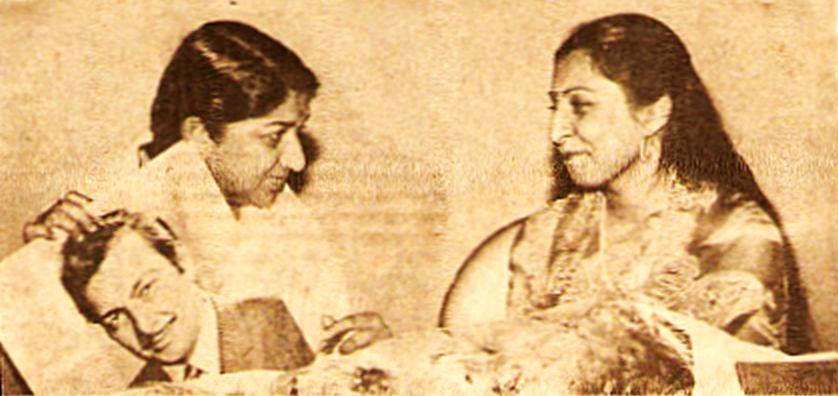Lata Mangeshkar with Sangeeta Gupta
