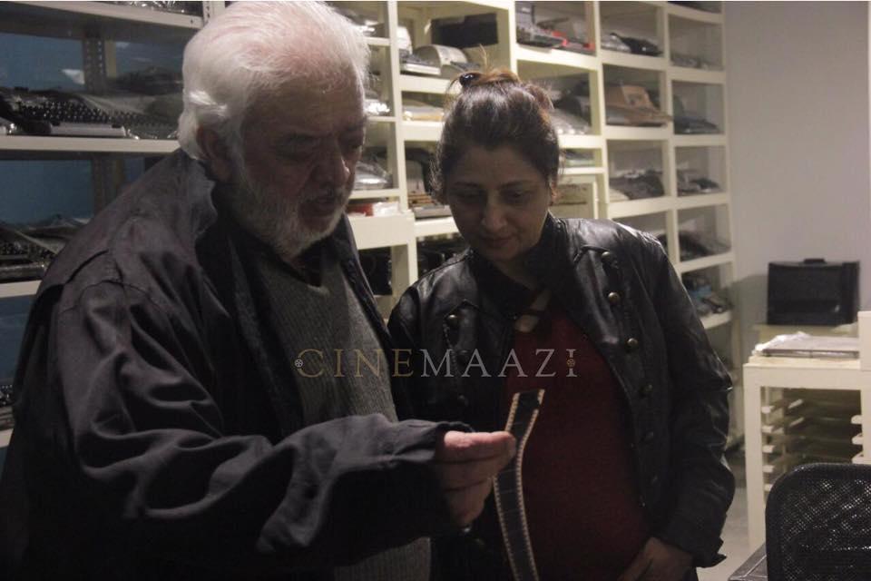 Rahul Rawail with Asha Batra at the cinemaazi studio