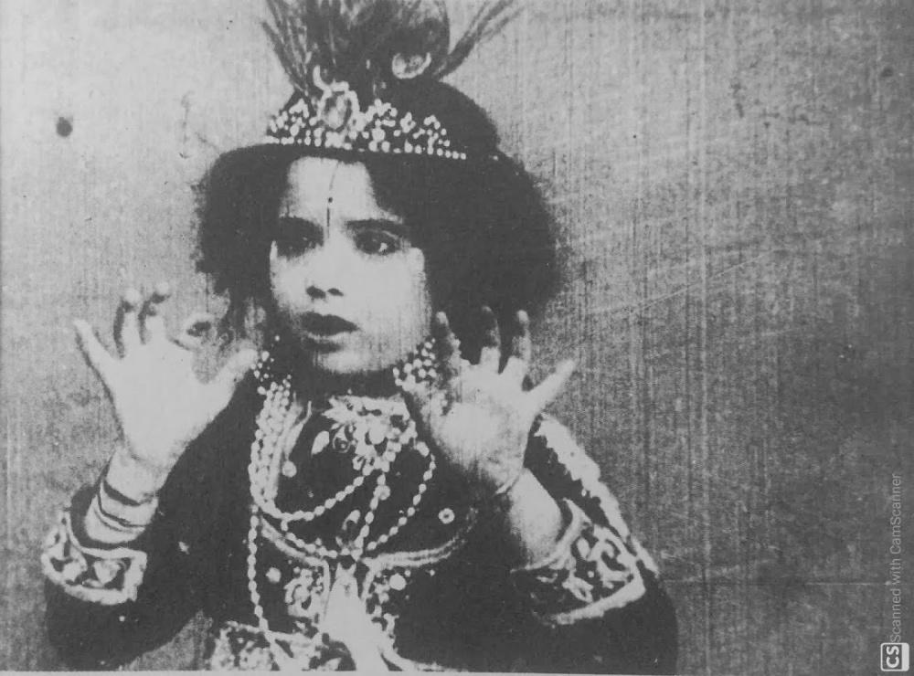 Mandakini in Dadasaheb Phalke's Krishna Janma 1917