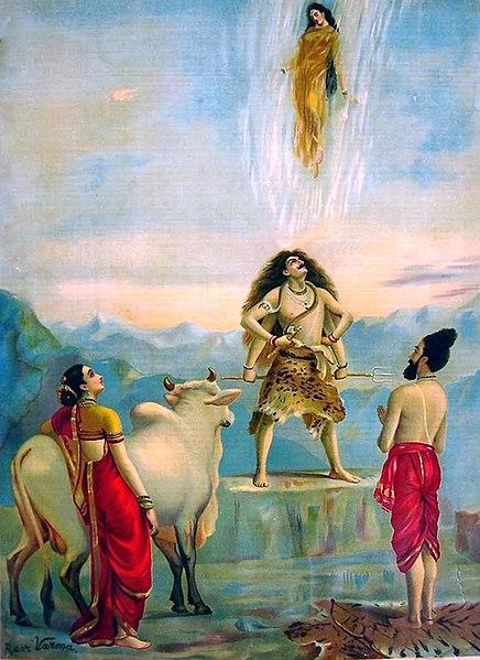 Raja Ravi Varma Descent of Ganga