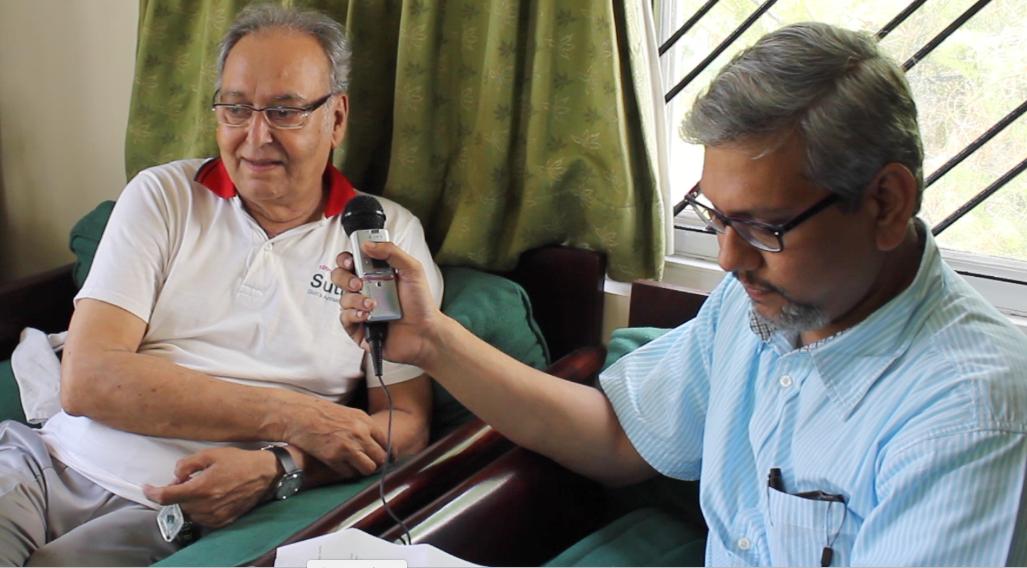 Soumitra Chatterjee with Amitava Nag