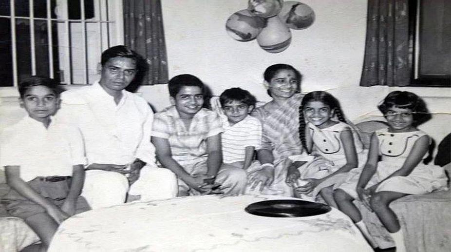 Shailendra and Shakuntala with their children