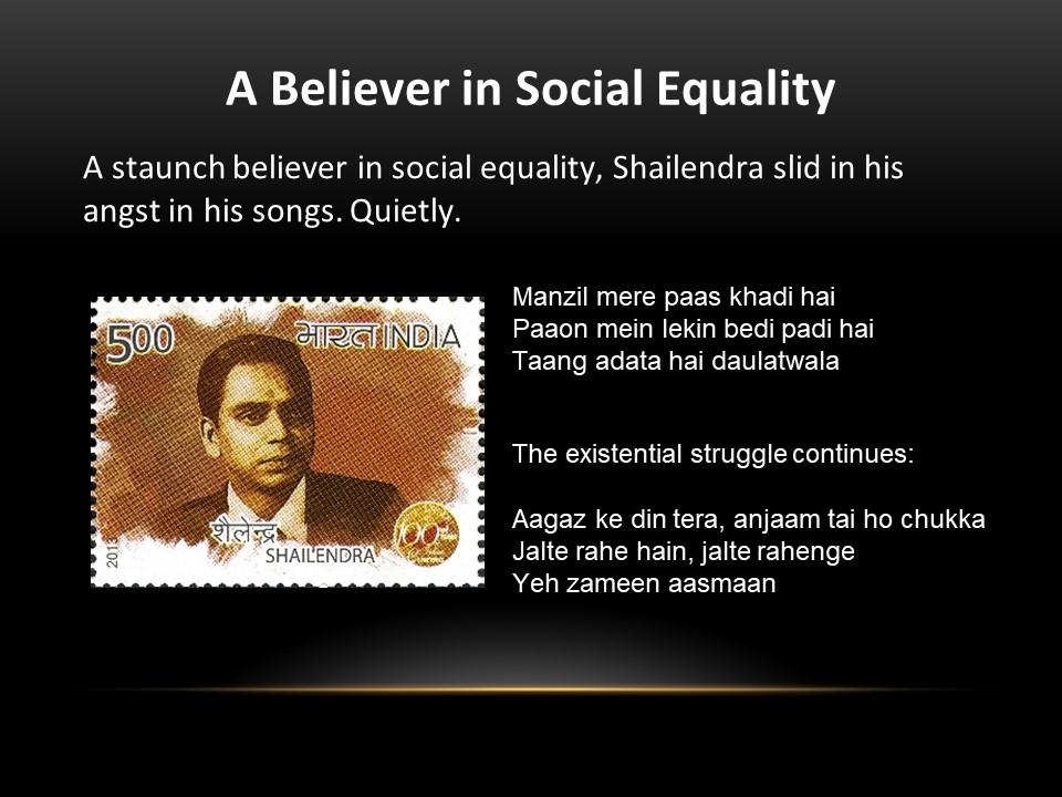 shailendra social equality
