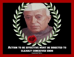 <div class=at-above-post-cat-page addthis_tool data-url=https://learningandcreativity.com/quote-action-jawaharlal-nehru/></div>A clear and distinct goal enables one to direct one's efforts towards the accomplishment of the goal in a more organized way.  A clear goal induces effectual action towards achievement of success.