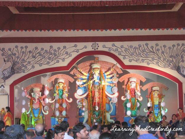 B Block C R Park Durga Puja 2013
