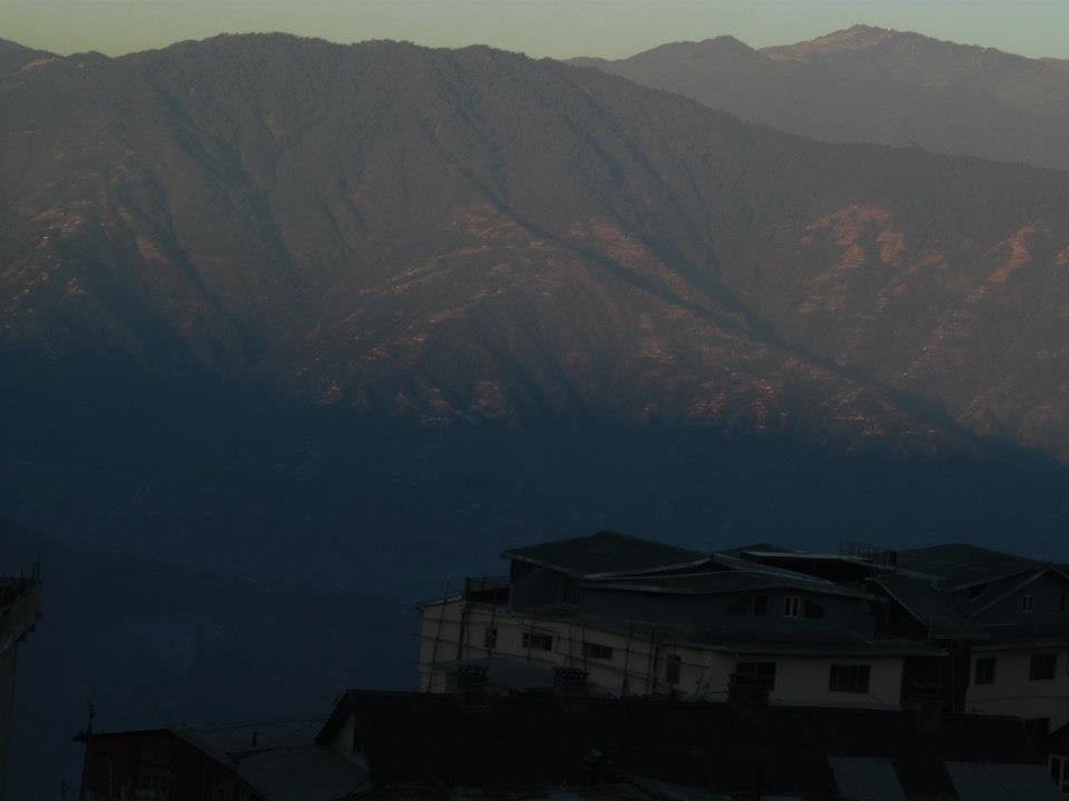 View of the valleys in Darjeeling