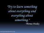 Learning Is Joy