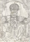 Art by Kids | Pencil Sketch of Hanuman