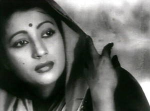Suchitra Sen as Paro in Bimal Roy's Devdas (1955) (Pic courtesy: Wikipedia.com)