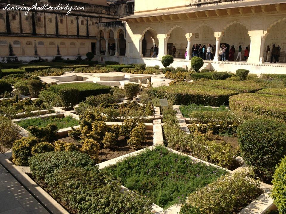 lush manicured gardens