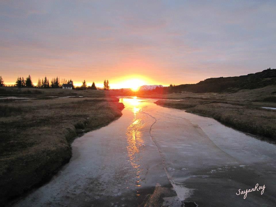 Sunset- Þingvellir National Park