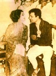 Suchitra Sen and Uttam Kumar together at a party