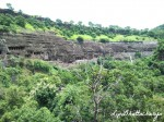 Ajanta Caves - View from left side