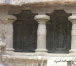 Stone carvings of Goddesses - Ellora Caves