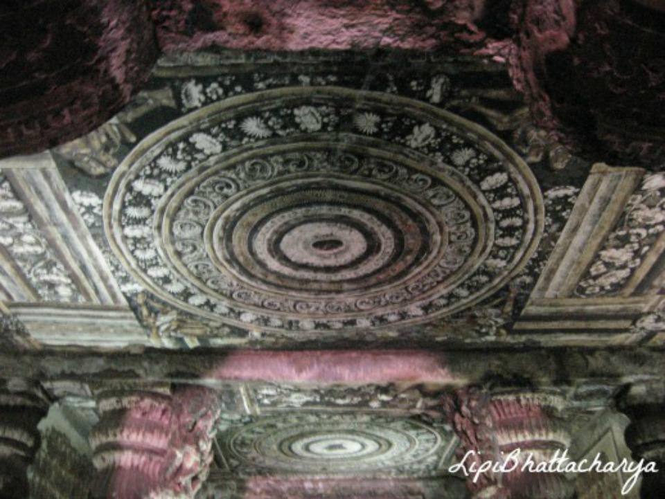 Floral Decoration at Ajanta Caves