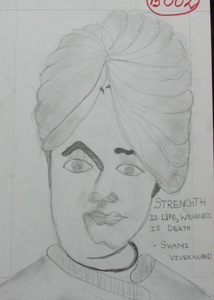 Swami Vivekananda pencil sketch