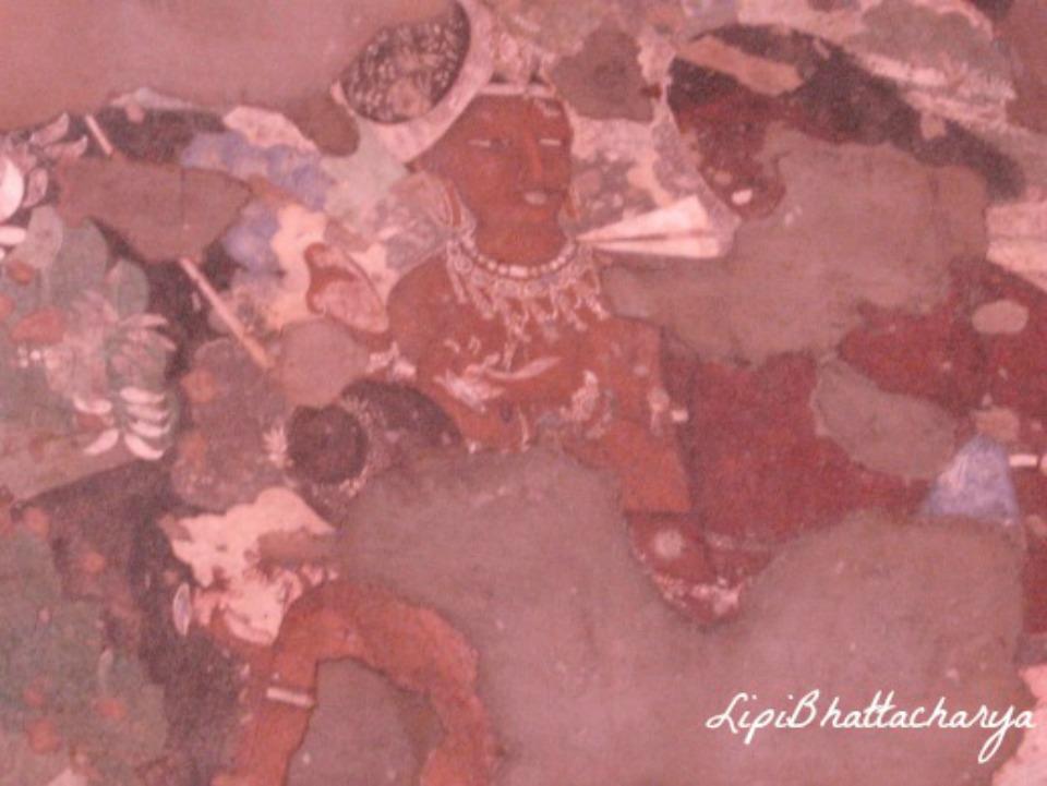 Painting on wall - Ajanta Caves