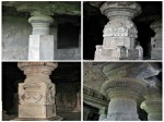 Pillars - Ellora Caves