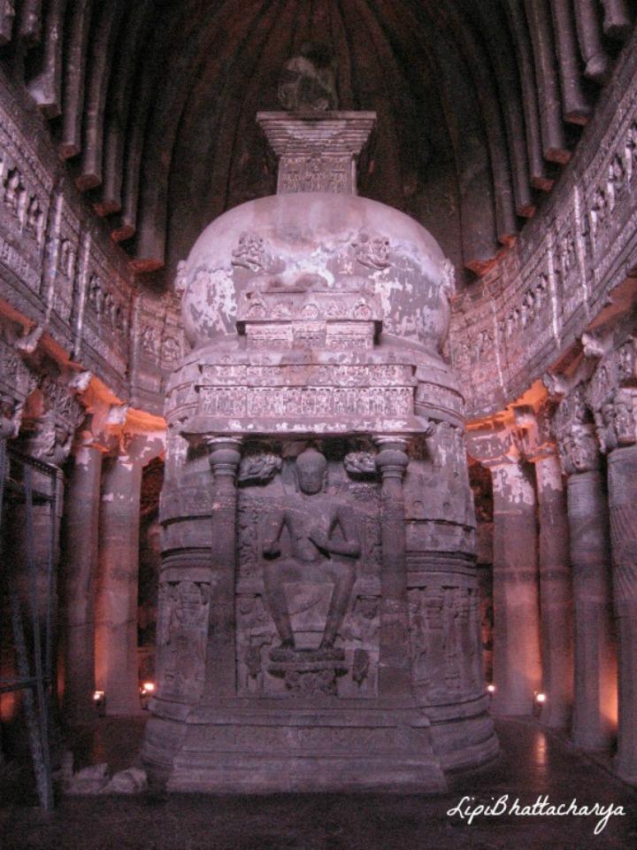 Sitting Buddha - Ajanta Caves