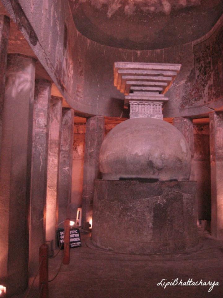 Ajanta Caves - Stupa in Cave 10